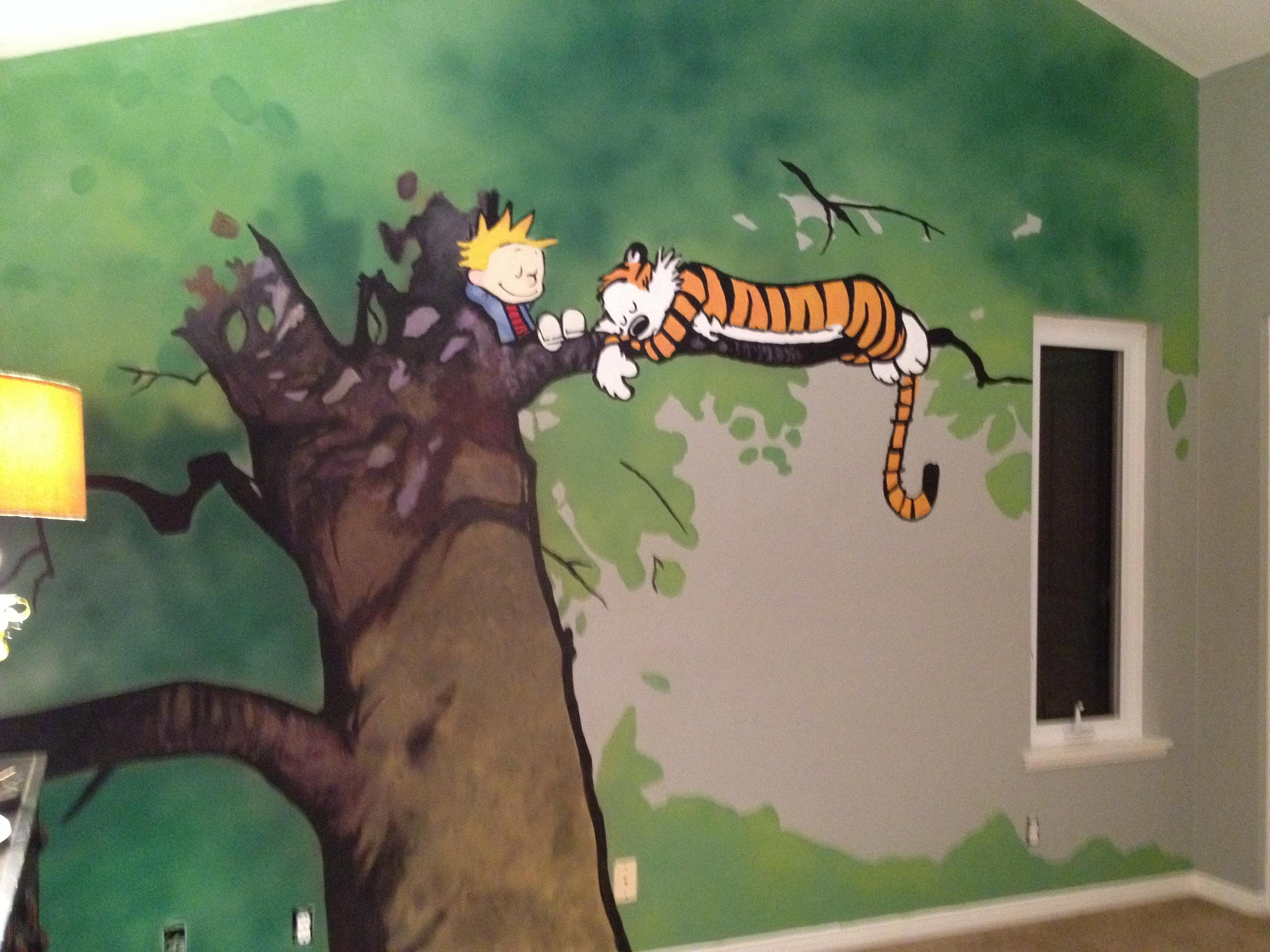 Calvin and Hobbes Mural Lauri Robertson